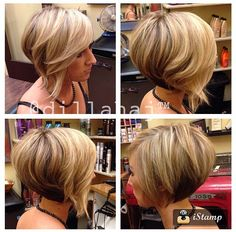 Love the color and length of this a-line bob