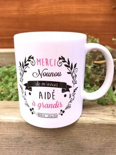 Mug nanny - nanny - great nanny gift - thank you for nanny - mavoir thanks helped to grow Teacher Gifts, Flower Pots, Mugs, Tableware, Etsy, Ideas, Mom, Beautiful Gifts, Growing Up