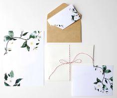 Printable Wedding Invitation Template Floral by BethanyEdenArt