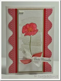 Creating a border with the EPB - details in the post - Uses the Happy Watercoloring stamps from Occasions.
