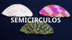 Semicírculos en tejido crochet tutorial paso a paso.