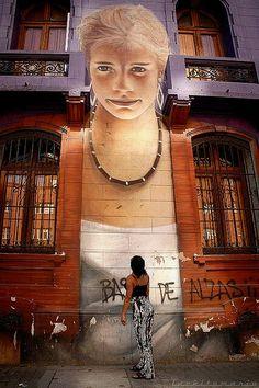 """Street-wall graphic art - L'arte grafica sui muri. Dateci il Vostro parere con un """"Mi Piace"""" e continuate a seguirci Per informazioni: info@diellegrafica.it  #grafica #urban #graffiti  Potete trovare tutte le immagini della rubrica all'indirizzo https://www.facebook.com/media/set/?set=a.1486195101644332.1073741830.1486043101659532&type=3"""