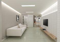 안녕하세요 수원 아파트 인테리어입니다 오늘 소개해드릴 시공사례는 넓어 보이는 25평 아파트 인테리어 예... Tv Shelf, Shelves, Simple Designs, New Homes, House Design, Living Room, Interior Design, Furniture, Home Decor