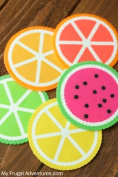 Citrus Perler Bead Coasters Fun Children's Craft - My Frugal Adventures - You are in the right place about diy face mask sewing pattern Here we offer you the most beautiful - Perler Bead Designs, Easy Perler Bead Patterns, Melty Bead Patterns, Perler Bead Templates, Hama Beads Design, Diy Perler Beads, Perler Bead Art, Beading Patterns, Melty Beads Ideas