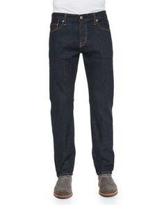 Graduate Jack Dark Wash Denim Jeans, Indigo by AG Adriano Goldschmied at Neiman Marcus.