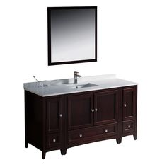 Blending clean lines with classic wood, the Fresca Oxford Traditional Bathroom Vanity is a must-have for modern and traditional bathrooms alike. The vanity frame itself features solid wood in a stunning mahogany finish.