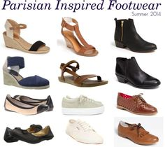 If you're wondering what travel shoes to wear to Paris in summer, this is an inside look on what women were wearing on my recent trip for Summer 2014. (Please note that these Parisian shoes inspired styles are not a reflection of what many tourists were wearing.)