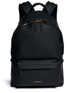 GIVENCHY Rubberised leather backpack. I WANT THIS