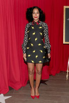 Pin for Later: These AFI Awards Outfits Are Just What We Need to Hold Us Over Until Sunday Tracee Ellis Ross In a patterned look and red heels. Love Fashion, Fashion Beauty, Fashion Looks, Tracey Ellis, Style Africain, Tracee Ellis Ross, Dressing, Celebs, Celebrities