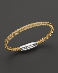 Roberto Coin 18K Yellow Gold Plated Sterling Silver Bracelet with Topaz