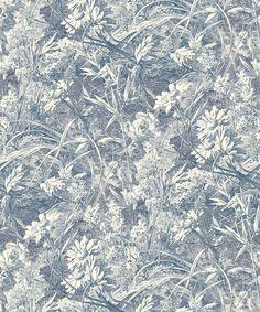 Liberty Furnishing Fabrics Indigo Royal Daisy Wallpaper | Home | Liberty.co.uk