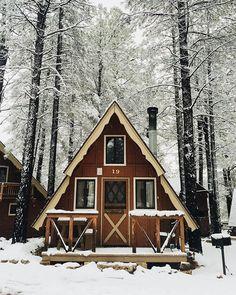 """What a beauty! #hideout #aframe #cabin #winter  birdasaurus: """"Hannah Minkner """""""