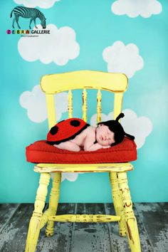 Crochet Ladybug Newborn Photography Prop  via Etsy.