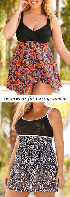 cute swimwear for curvy women, plus size swimsuits for women    #liligal #plussize #plussizefashion #plussizeswimwear
