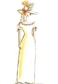 Daniela Loi Fashion Designer (©2010 artmajeur.com/youfashiondesigner) - Wedding dress  - Watercolour  - Abito da sposa - Acquerello