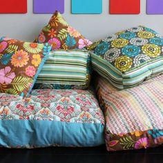 Floor Pillows. So cute for a sleepover