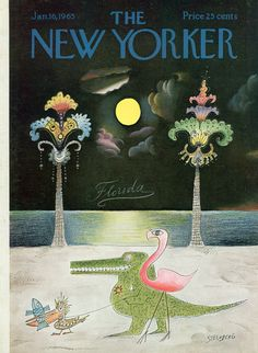 The New Yorker - Saturday, January 16, 1965 - Issue # 2083 - Vol. 40 - N° 48 - Cover by : Saul Steinberg