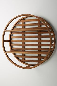 Wooden Wheel Shelving Unit by Anthropologie in Brown Size: All, Storage Cheap Shelving Units, Wall Shelving Units, Wall Shelves, Wooden Wheel, Wood Magazine, Mirror Wall Art, Wooden Wall Art, Window Coverings, Home Decor Items