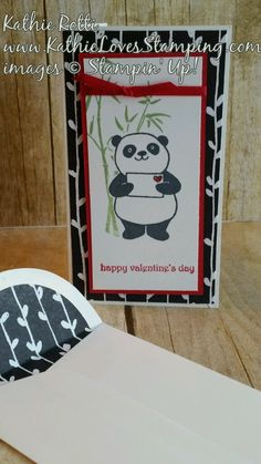 Welcome to the All About Love Stampin Friends Hop. Happy New Year! I am so excited about the hop this year. We have several NEW participants. I really believe you'll be blown away by thei… Valentine Day Cards, Happy Valentines Day, Asian Cards, Panda Party, Pizza Boxes, Jily, Love Stamps, Card Crafts, Stamping Up