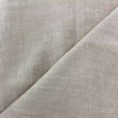Tissu lin lavé Thevenon - beige x 10cm