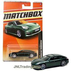 Matchbox Year 2010 VIP Series 1:64 Scale Die Cast Car Set #33 - Dark Green Luxury Sedan PORSCHE PANAMERA (2/6) T8989
