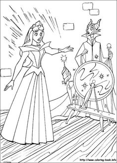 sleeping beauty coloring picture - Girly Pictures To Colour In