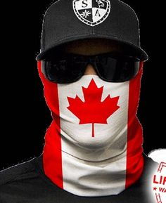Canada Flag Multi Purpose Face Shield Balaclava Bandana Neck Gaiter Sun Mask Neckerchief by VaderUnlimited on Etsy
