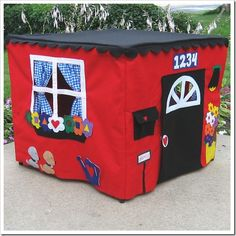 Love This! It would fold up when not in use! This website has many handmade ideas for kids