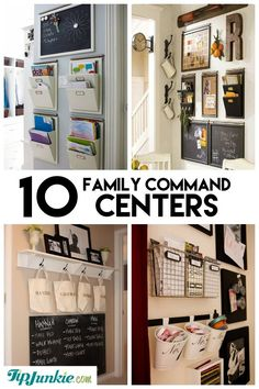 10 Stylish Family Schedule and Command Center Ideas #organize
