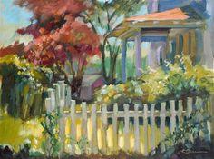 "Daily Paintworks - ""Copper Roof"" - Original Fine Art for Sale - © Jeanne Bruneau"
