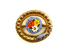 Gorgeous and Rare 1930s Victorian micro mosaic by RAKcreations