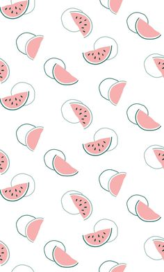 Watermelon Pattern By Madeleine Sharman Follow @madlinesdesign