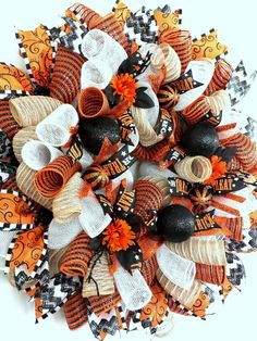 Your place to buy and sell all things handmade Halloween Deco Mesh, Happy Halloween, Halloween Decorations, Halloween Coloring, Coordinating Colors, Deco Mesh Wreaths, Trick Or Treat, Color Schemes, Burlap
