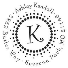 Custom Address Stamps from Wedding Paper Divas