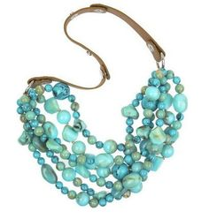 Turquoise beaded necklace by Malene Berger    http://mkaltenbachdesigns.blogspot.com/2012/10/turquoise-for-fall.html