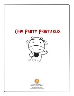 Cow Party Printables- These are absolutely perfect for Mason's first birthday farm themed party!  And they are FREE!