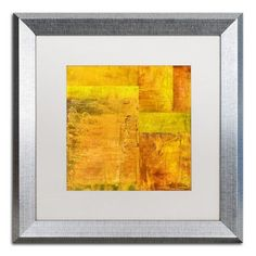 "Trademark Art ""Essence of Yellow 2"" by Michelle Calkins Framed Painting Print Size: 1"