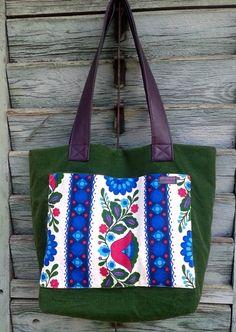 Feincord Tasche mit Lederhenkel von LIZ&SAB auf DaWanda.com Reusable Tote Bags, Etsy, Handmade, Graz, Handbags, Leather, Hand Made, Handarbeit