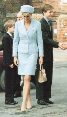 Princess Diana : March 9, 1997 at Prince William's confirmation.....Uploaded By www.1stand2ndtimearound.etsy.com