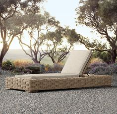 """Rutherford Chaise (2)  Overall: 36½""""W x 89½""""D x 10¼""""H Seat: 10¼""""H (13¾""""H with cushion)"""