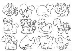 desenhos moldes animais artesanto eva feltro pintura (1)