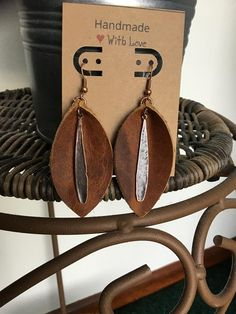 Large Leather Earrin
