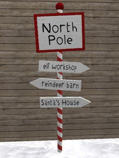 Second Life Marketplace - North Pole Sign Post - Christmas Decoration/Candy… Christmas Grotto Ideas, Christmas Fair Ideas, Ward Christmas Party, Office Christmas Decorations, Noel Christmas, Christmas Signs, Outdoor Christmas, Christmas Themes, Disney Christmas