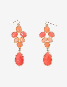 Coral Dangle Earrings