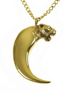 You can't get sexier than this gold tiger claw necklace by Alexa De Castilho - shop now on Overmybody.com - http://overmybody.com/collections/alexa-de-castilho/products/tiger-claw-necklace