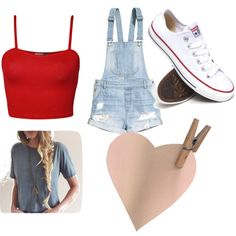 Untitled #31 by mayizquierdo13 on Polyvore featuring polyvore fashion style WearAll H&M Converse