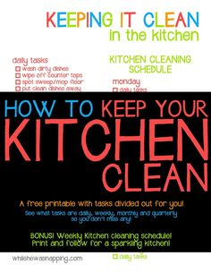 Free Printable Cleaning Planner Daily  Weekly  Monthly Cleaning