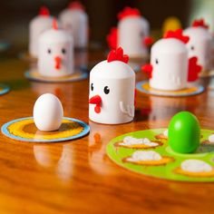 "Peek-A-Doodle Doo! and thousands more of the very best toys at Fat Brain Toys. Cluck! Cluck! What an ""egg-cellent"" memory you have! A ""My First Game"" for your clever little farmer. With its constant motion, Peek-A-Doodle Doo engages your child's memory and concentration in a farm fresh way!"