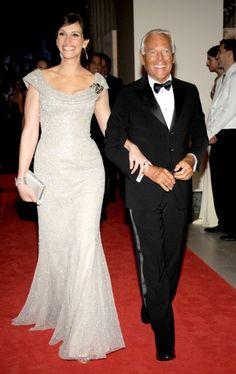 Julia Roberts with Giorgio Armani wearing Armani Prive 2008