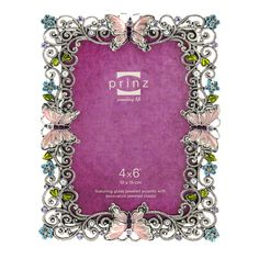 secret garden jeweled collection picture frame 4x6